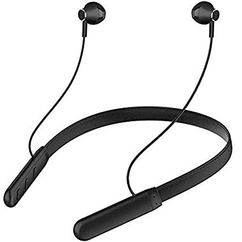 Wireless Bluetooth Headphones Earphone For LG G8X ThinQ Neckband Earphone Bluetooth 5.0 Wireless Headphones with Hi-Fi Stereo Sound, 12Hrs Playtime, Lightweight Ergonomic Neckband, Sweat-Resistant Magnetic EarbudsBluetooth Neckband with Vibration Alert for Calls, in-Ear Wireless Earphones with 12 Hour Battery Life, Fast Charging & in-Built Mic, IPX5 Sweatproof Headphones (GO, Black)