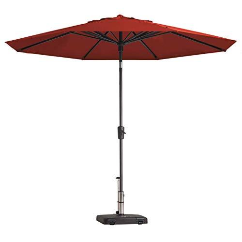 Madison Sonnenschirm UV-Schutz 50+ Wasserabweisend Marktschirm Gartenschirm Ampelschirm Balkonschirm Terrassenschirm Schirm Rund 300cm Ziegelrot