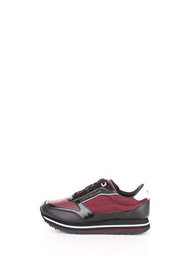 Tommy Hilfiger Damen Tommy Retro Sneak Sneaker, Rot (Burgundy Fw0fw04305-Gby), 41 EU