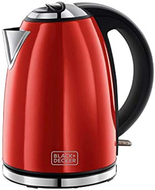 BLACK DECKER KE23602 CL 2200 Watts Electric Tea Kettle 220 Volts Not For USA 1 7 Liter Red