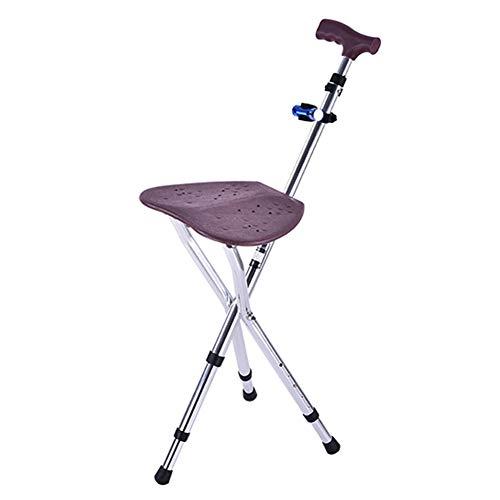 Vouwen suikerriet stoel dikke aluminium legering cane kruk stoel stoel 3 poten Cane stoelen hoog verstelbare wandelen wandelstok