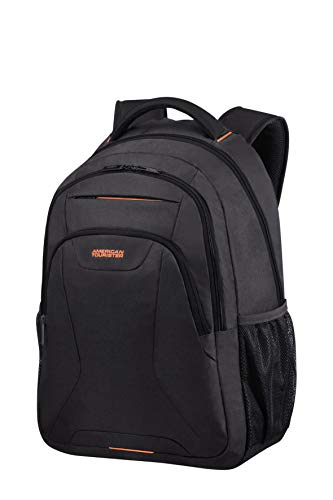 American Tourister At Work Zaino L (17.3'), Nero (Black/Orange)