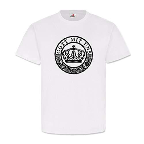 Koppel 1WK Gott mit Uns deutsches Kaiserreich Heer T Shirt #20085, Größe:3XL, Farbe:Weiß