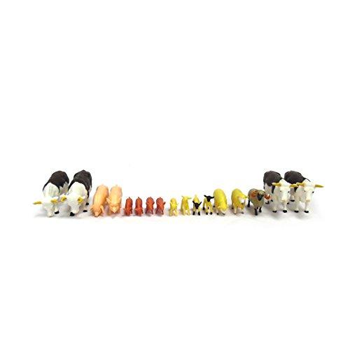 Britains 43096 - Bauernhoftiere - gemischtes Set - Modell 1:32 - kleine Spielfiguren Tierfiguren Farm-Tiere für den Bauernhof Modellbau - Spielzeug farm animals - 17 Figuren