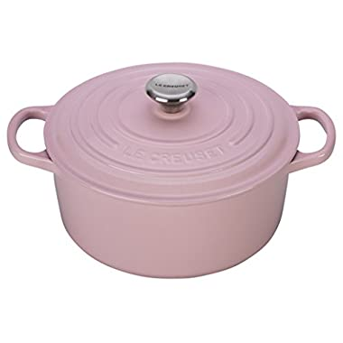 Le Creuset Signature Enameled Cast-Iron 7-1/4-Quart Round French (Dutch) Oven, Hibiscus