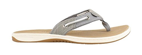 Price comparison product image SPERRY Womens,  Seafish Nautical Style Thong Sandal Linen Grey Silver 11 M