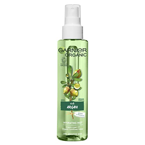 Garnier Organic Argan Hydrating Facial Spray Mist for Dry and Sensitive...