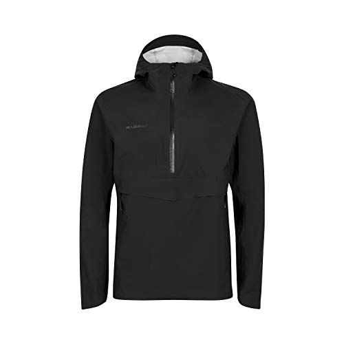 Mammut Herren Hardshell-jacke Albula Half Zip Hooded, schwarz, XL