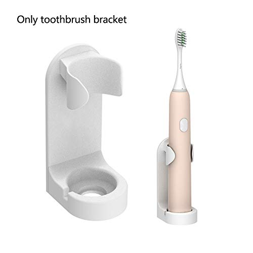 Elektrische tandenborstelhouder, Anti-vlek Traceless Punch Free Wall Mounted Elastic Buckle Design Elektrische tandenborstel Stand met een wateruitlaat op de bodem, Goed voor thuis, hotel en reizen