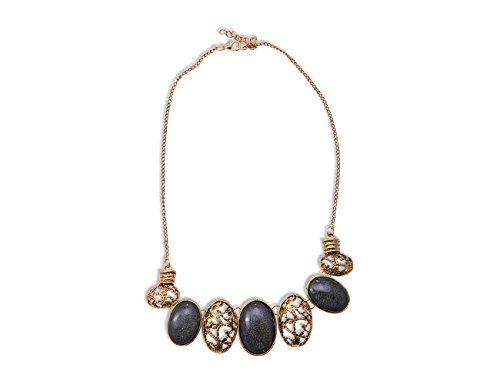 Enez XXL Damen Kette Halskette Blogger Necklace Choker Collier 45cm VR764