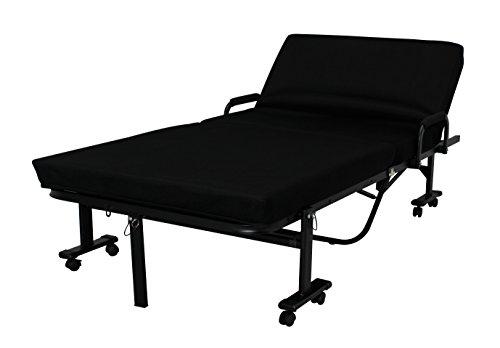 アイリスオーヤマ ベッド 折りたたみベッド シングル 収納 高反発 ハイタイプ 完成品 ブラック OTB-KRH