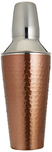 Cook Pro Inc. 3Piece 27 oz Stainless Steel Cocktail Mixer, Copper