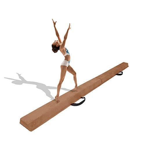 Minetom 180/240/275 cm Balken Turnen Balancierbalken Klappgymnastik Schwebebalken Gymnastik Balance-Balken Schwebebalken Faltbar für Kinder (Khaki, 270.00)