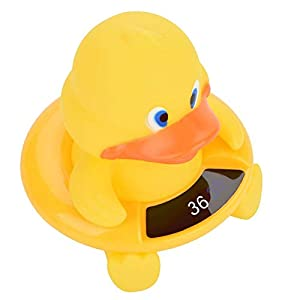 Termometro galleggiante per bambini, termometro per bambini carino e trasparente Termometro per anatra compatto per la casa