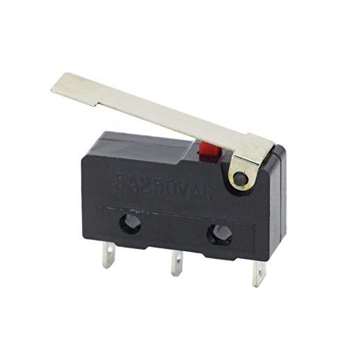 Alta calidad 10 unids/lote Límite Interruptor 3 PIN / 2 PIN de alta calidad y larga vida útil All New 5A 250VAC KW11-3Z Micro Switch de interruptor de tacto APAGADO Interruptor de límite micro