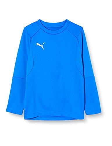 PUMA Kinder Liga Training Sweat Jr Sweatshirt, Electric Blue Lemonade White, 116