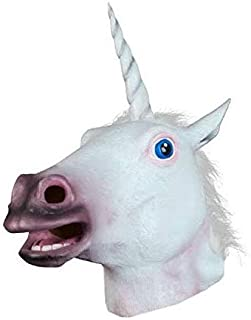 Toys Prom party spoof mask halloween   horse head unicorn mask animal Headcover