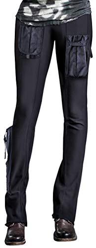 AlphaGirl Techwear Hose | Leistungs-Stretch, Arbeitskleidung mit wasserabweisenden Cargotaschen - Schwarz - Mittel