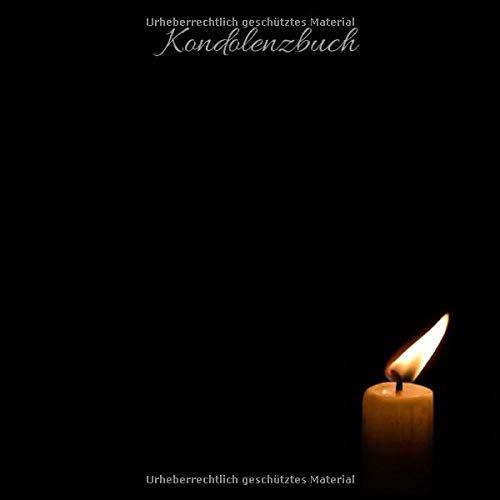 Kondolenzbuch: Trauerbuch * Trauergästebuch zur Beerdigung * Schwarz* XXL mit 400 Seiten* edle Optik quadratisches Format 21 x 21 cm (8,25