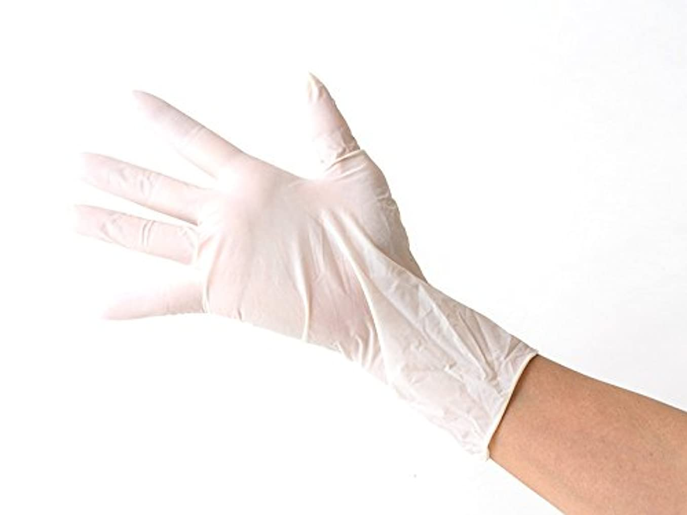 バンジージャンプ高めるベアリングサークルラテックス 使い捨て天然ゴム 極薄手袋 パウダータイプ 100枚入り Sサイズ