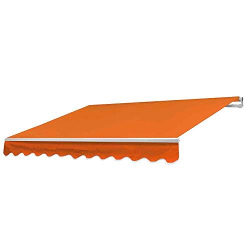 Mendler Alu-Markise HWC-E49, Gelenkarmmarkise Sonnenschutz 2,5x2m - Polyester Terrakotta