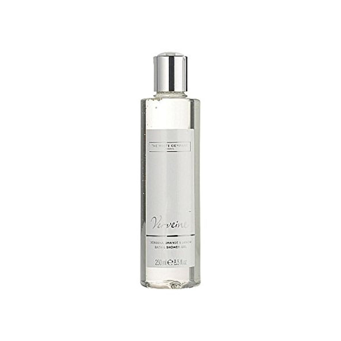 デクリメント冷酷な分注するバス&シャワージェル白会社 x4 - The White Company Verveine Bath & Shower Gel (Pack of 4) [並行輸入品]