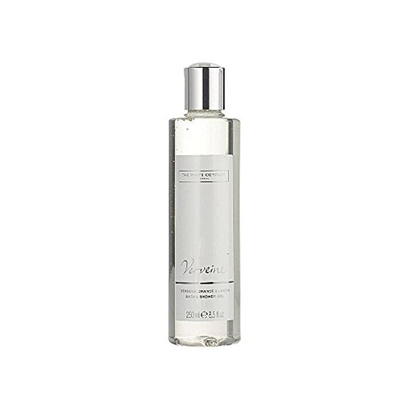 使用法ステップ機転バス&シャワージェル白会社 x4 - The White Company Verveine Bath & Shower Gel (Pack of 4) [並行輸入品]