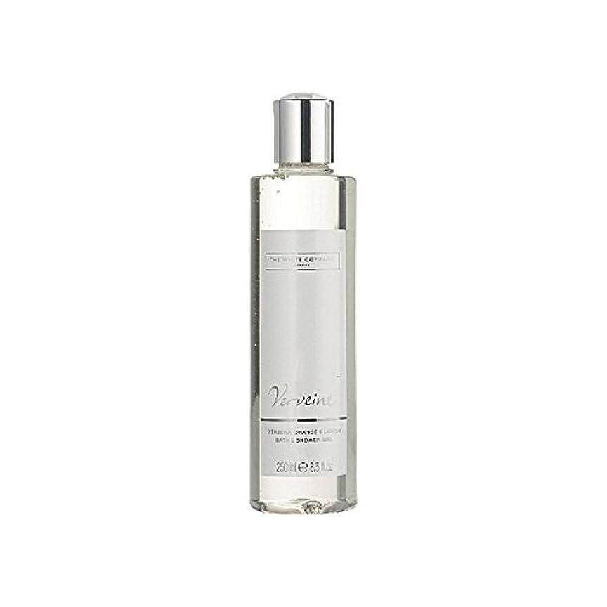 器用中間ストライクバス&シャワージェル白会社 x4 - The White Company Verveine Bath & Shower Gel (Pack of 4) [並行輸入品]
