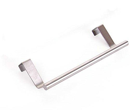 Barra Para Toallas - Percha Para Puerta Ideal Cocina Y BañO - Para Puertas Y Armarios - Acero Inoxidable Pulido, 23 cm