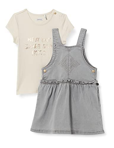 IKKS - Conjunto de vestido gris claro con camiseta blanca de fútbol...