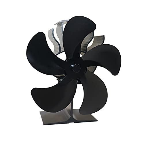 Ventilador de chimenea 5 Blade Estufa de madera Ventilador de calor silencioso Potencia de energía Eco Fan para quemador de leña Rápido calor disipación estufa ventilador de calefacción a domicilio