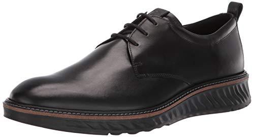 ECCO Men's ST1 Hybrid Plain Toe Oxford, Black Smooth, 43 M EU (9-9.5 US)