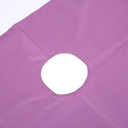 Engångslakan, sängtillbehör Skönhetssalong Sängöverdrag, hängande tygdesign 2st polyesterfiber för skönhetssalongmassage(White+purple)