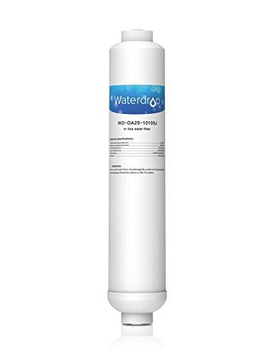 Waterdrop DA29-10105J Externe Inline-PushFit Kühlschrank Wasserfilter kompatibel mit Samsung DA29-10105J, HAFEX, DA99-02131B, DA2010CB; WSF-100 EF9603; LG 5231JA2010B, BL-9808; K32010CB; USC100 (1)