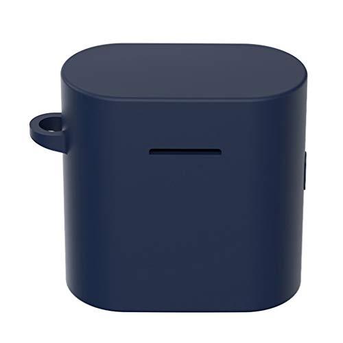 Hülle Ersatz für Xiaomi air 2 Bluetooth Earphones Box Case,Allround Silicone Kopfhörer Case zubehör Schutz in-Ear-kopfhörer-Abdeckung Gehäuse Stoßfest Protective Cover für Xiaomi air 2 (Blau)
