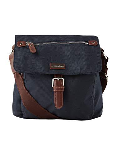 TOM TAILOR Damen Taschen & Geldbörsen kleine Überschlagtasche dark blue cognac,OneSize
