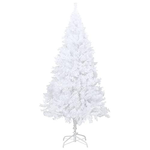 Susany Arbre de Noël Artificiel avec Branches épaisses,Sapin de Noël Artificiel renversé avec Support,Sapin de Noel,Tronc Vert,Sapin de Noël Artificiel,avec 564 Branches-Blanc 120cm PVC