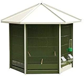 VADIGRAN Nr 40Aviary, Green with White Roof 93x 43x 78cm