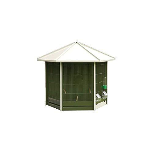 VADIGRAN Nr 40voliera Verde con Tetto Bianco per Uccello 93x 43x 78cm