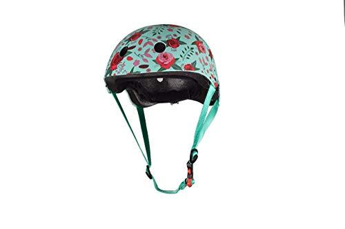 KIDDIMOTO Fahrrad Helm für Kinder - CE-Zertifizierung Fahrradhelm - Design Sport Helm für Skates, Roller, Scooter, laufrad - Blumen -S (48-53cm)