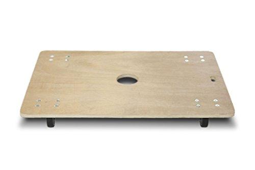 (日本製) 静音木製台車(静音キャスタ—使用) 板台車 900×600mm 3台