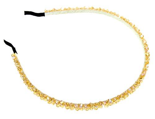 Demarkt Damen Kristall Haarschmuck Haarspange Haarklammer Haarnadel Haarreif Headband in Hell Gelb