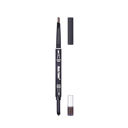 Eyeliners,OVERMAL Crayon Crayon Sourcils Waterproof Oeil Front Outil De CosméTiques Avec Pinceau De Maquillage (Gris)