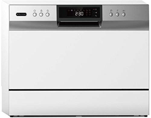 Whynter CDW-6831WES Energy Star 6 place setting LED, White Countertop Portable Dishwasher