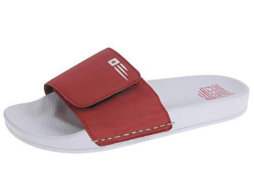 Zapatillas de Piscina Hombre (Rojo, 41)