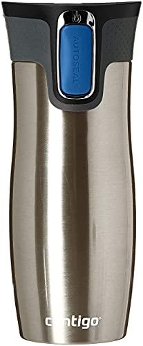 Contigo 1000-0007 - West Loop Vaso Térmico, color plata (acero inoxidable), 470 ml