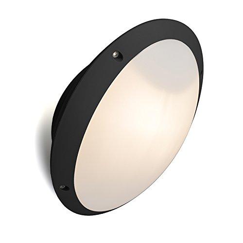 QAZQA Modern Wandlamp zwart IP65 verstelbaar - Remi Kunststof Ovaal Geschikt voor LED Max. 1 x 60 Watt