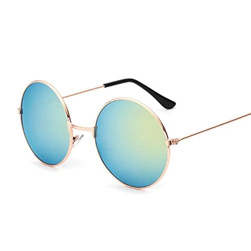 NC Gafas de sol polarizadas, de estilo retro, de color negro, con círculos
