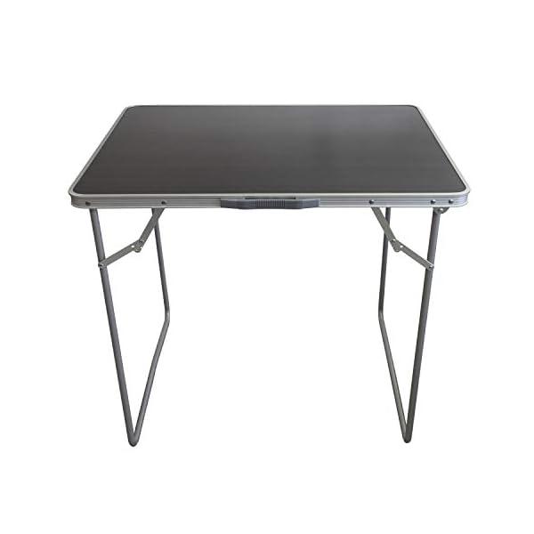 Multistore 2002 5tlg. Campingmöbel Set Klapptisch, Aluminium, 80x60cm + 4X Campingstuhl klappbar, Stone/Strandmöbel…
