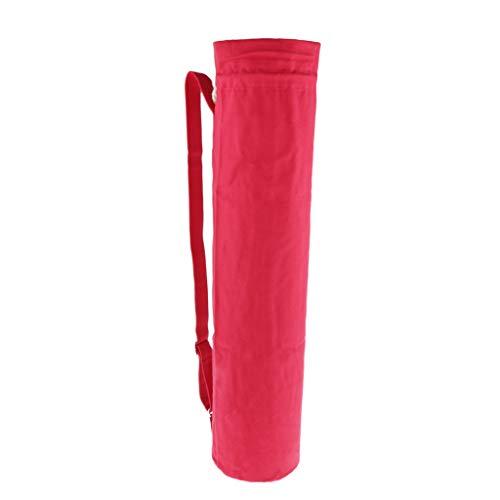 MagiDeal Sac de Tapis de Yoga Sac de Rangement Tapis de Sport en Coton Résistant à l'usure Unisexe Sport Fitness Gym - Rouge, 75x16.5cm